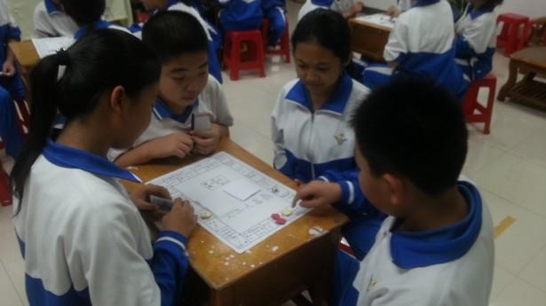 图二为 学生正投入地参与游戏